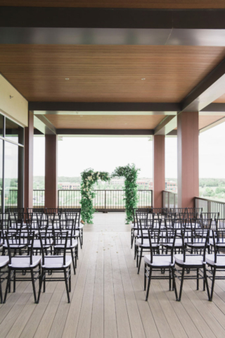 Wedding setup on The Terrace